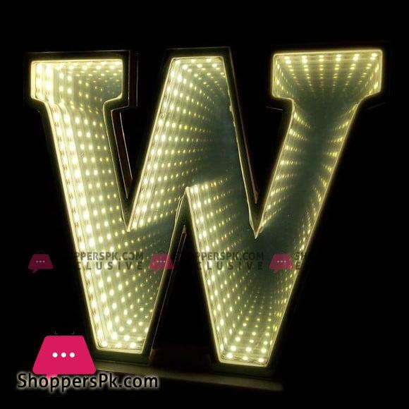 3D Effect Alphabet Latter LED Tunnel Bell Alphabets Decoration Night Light