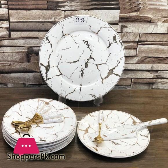 Ceramic Cake Serving Set 14 Pieces