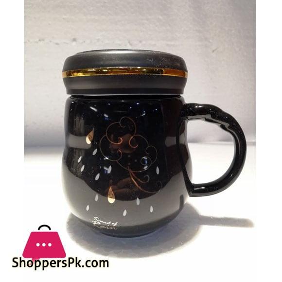 Ceramic Coffee Mug with Cap Sound of Rain