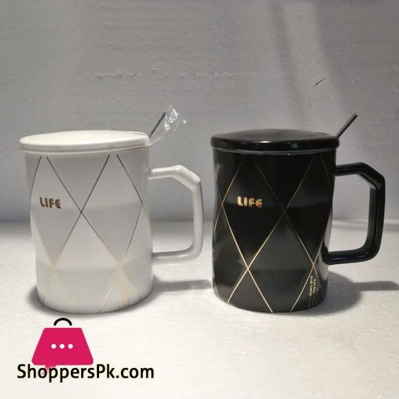 Coffee Mug With Cap And Spoon