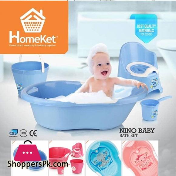 Homeket Nino Baby Bath Set 4-Pcs