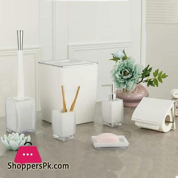 Limon Acrylic Plastic 6 Piece Bathroom Set