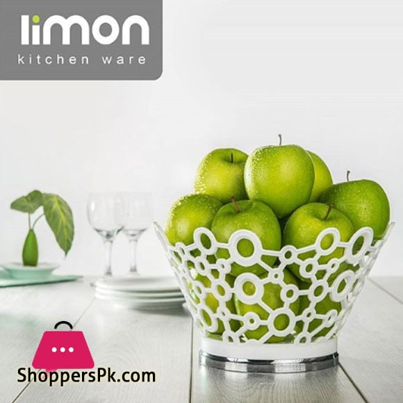 Limon Stainless Steel Fruit Basket Large 30.5 x 9.5 cm