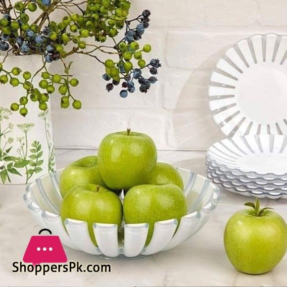Limon Stainless Steel Fruit Basket Large 30.5 x 9.5 cm
