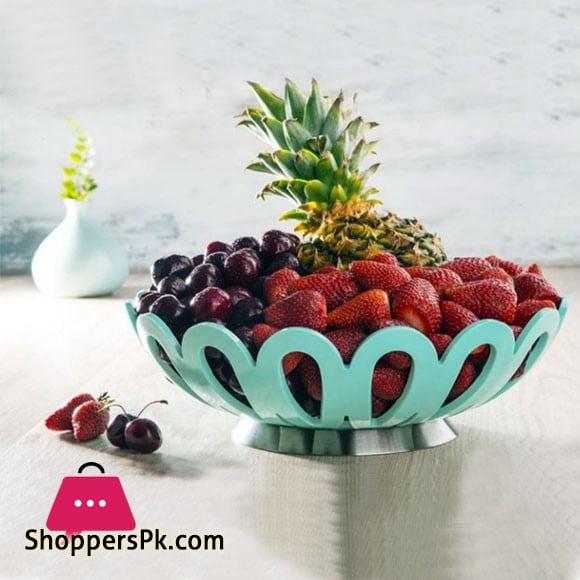 Limon Stainless Steel Fruit Basket Medium 9.5 x 4 Inch