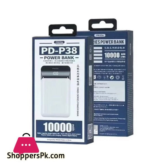 PRODA 10000mAh Power Bank PD-P38