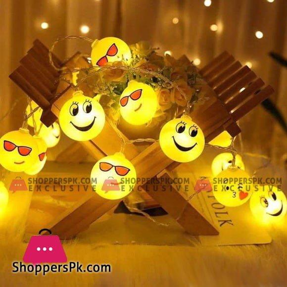 Emoji Emotion Night Light LED String Pack of 20