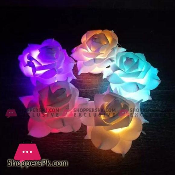 Rose Multicolour Lights Pack of 12