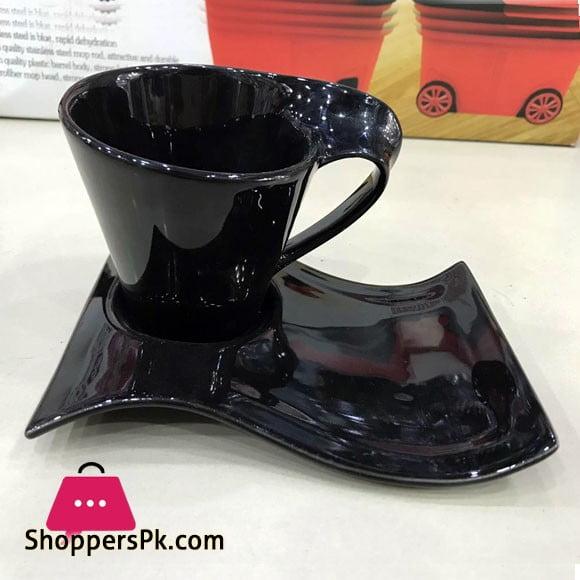 Wavy Cup Saucer Set Fancy 12 Pcs