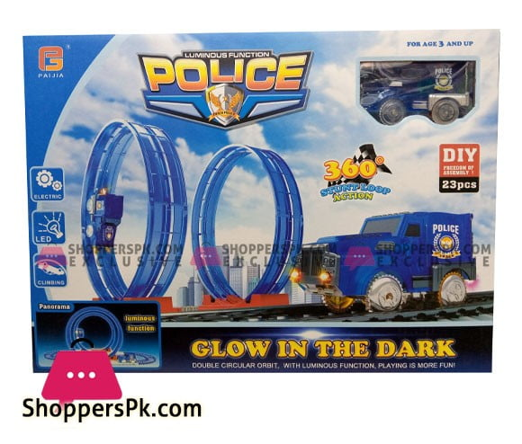 Luminous Function Police 23 Pcs Glow In The Dark