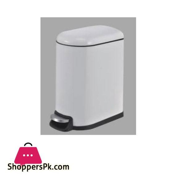 Home Fresh 10Ltr White SS Slim Bin - HF0017