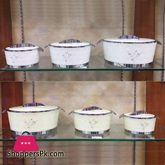 3 Pcs Arkon Food Warmer Set - Hot Pot Set
