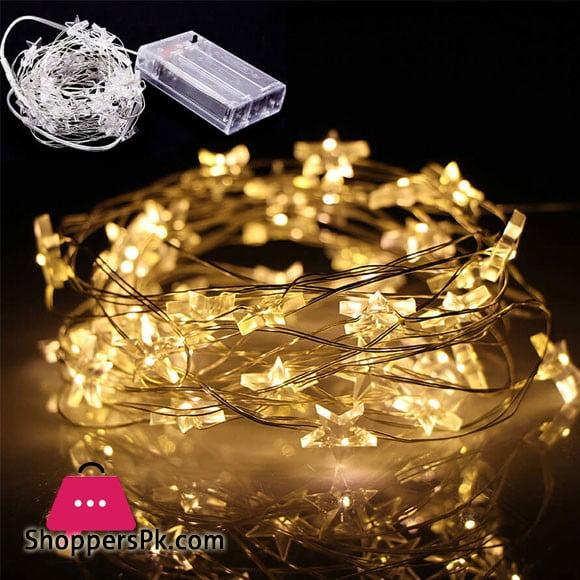 30 Star Fairy Wire Led Light Length 10-Feet