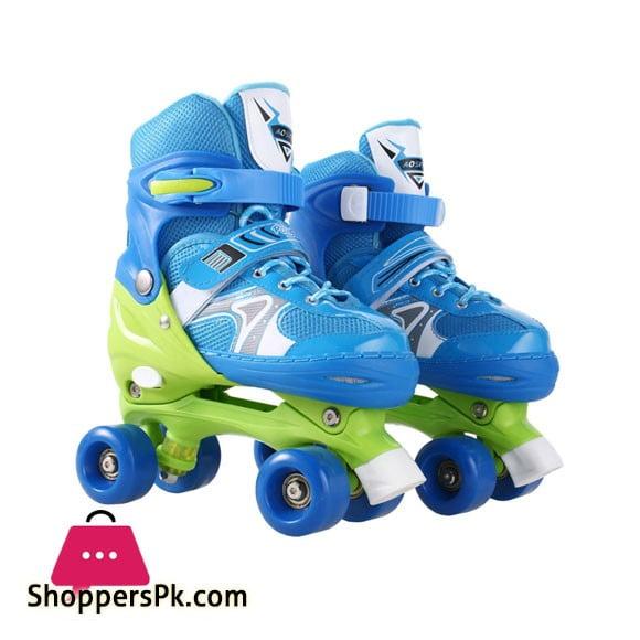 Adjustable Kids Roller Skates PVC Wheel Triple Lock