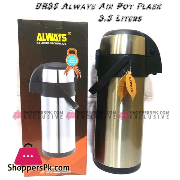 Always Inox Stainless Steel Airpot Flask 3.5 Liter