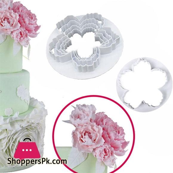 Big Peony Petals Cutter Gum Paste Flowers Cake Decorating Cutter 4-Pcs