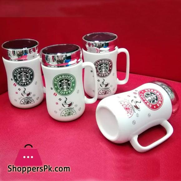 Ceramic Coffee Mug with Cap Starbucks
