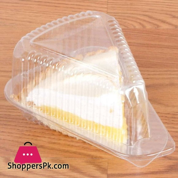 Disposable Triangle Serving Cake Slice Box Pack of 100 Pcs