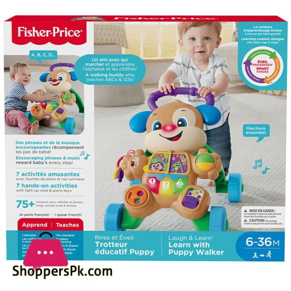 Fisher-Price Laugh & Learn Smart Stages Learn with Puppy Walker - French Edition