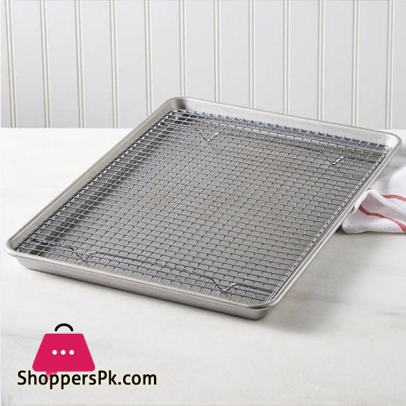 Heavy Gauge Bakware Half-Sheet Pan and Cooling Rack Set 45 x 32 x 2.6 CM