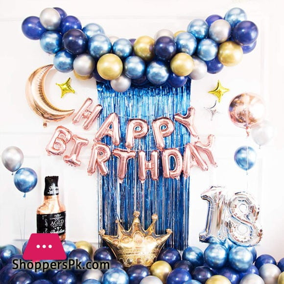 Happy Birthday 88 Pcs Complete Deal Pack Foil Balloon Set