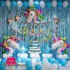 Happy Birthday Unicorn 65 Pcs Complete Deal Pack Foil Balloon Set