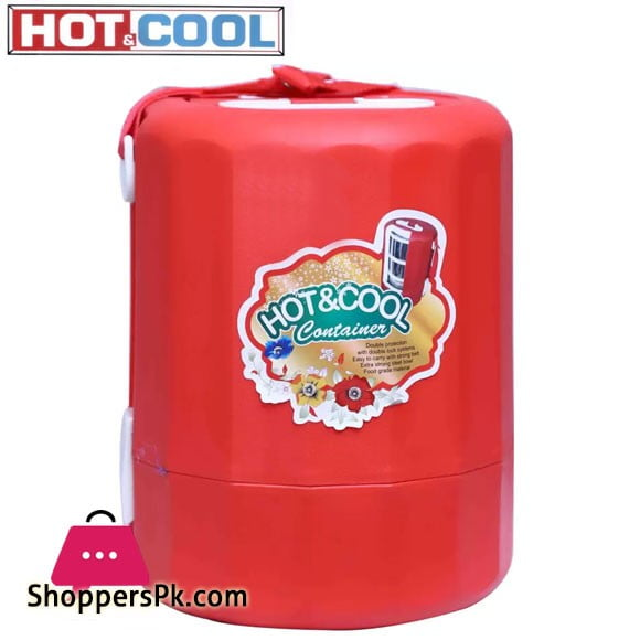Hot and cold insulated Stainless steel and stylish Travel and picknick purpose Big 3 Containers Lunch Box (4500 ml)