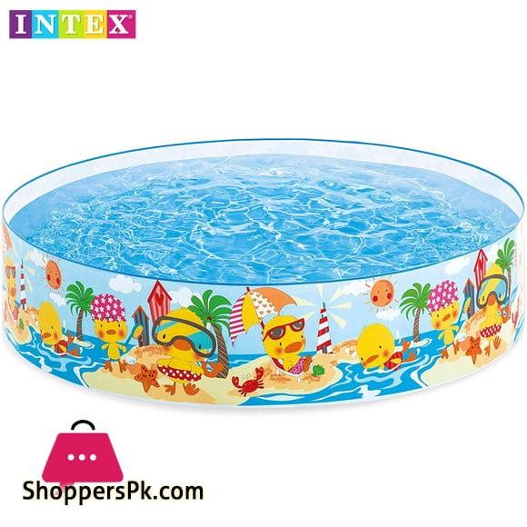Intex 4 Feet Duckling Snapset Pool Multi Colour - 58477
