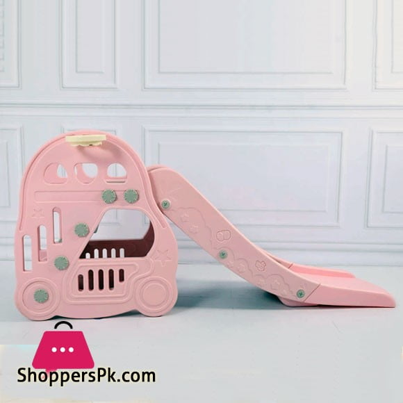 Kids Slide Basketball Hoop Indoor Play Slide LHT21