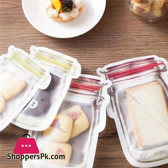 Reusable Mason Bottle Ziplock Bag Pack of 3