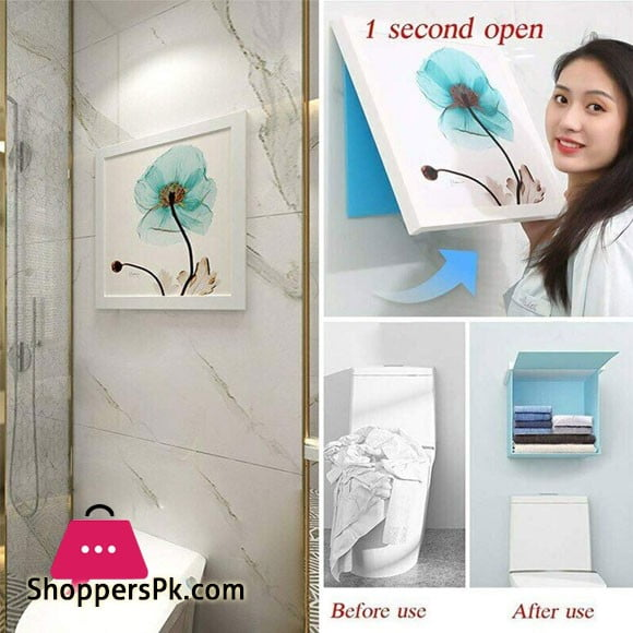 ShoppersPK Hidden Bathroom Locker Wardrobe Folding Storage Cabinet