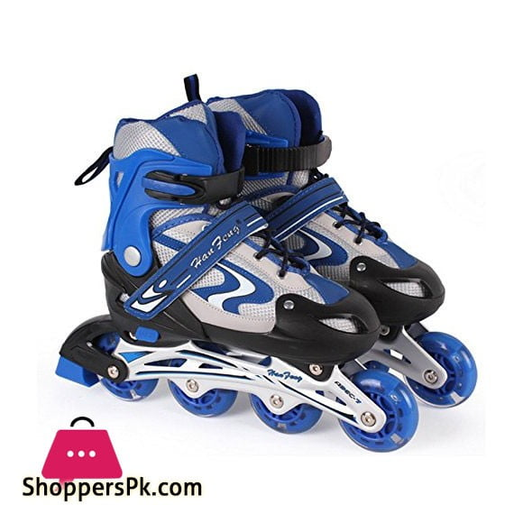 Skate Shoes Adjustable Size 38 to 42 Blue M Size Age 10-14Years