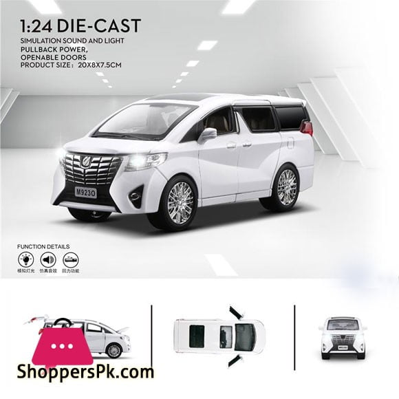 1:27 Toyota Alphard Alloy Diecast Model Collection MPV Car Kids LED Toy