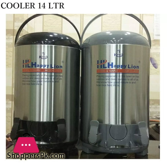 Water Cooler Steel Body 14 Liter Aluminium Inner Imported Cooler