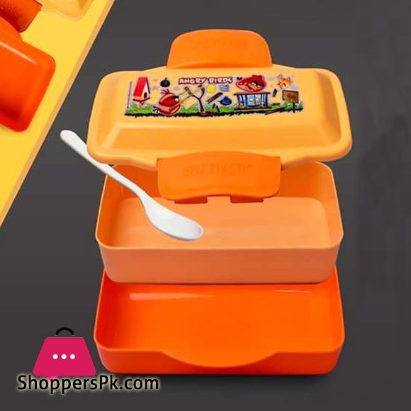Angry Bird Lunch Box With Spoon