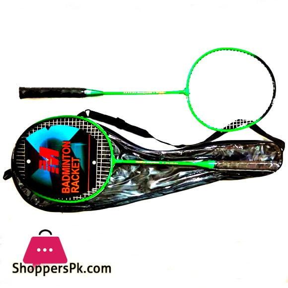 Badminton Racket Pair Green