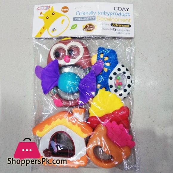Friendly Baby Infant Rattle Toys Set