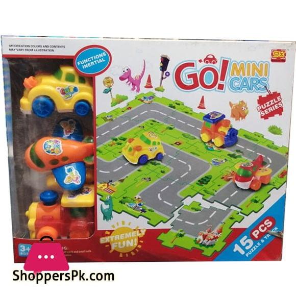 Go! Mini Cars Puzzle Series For Kid 15 Pieces