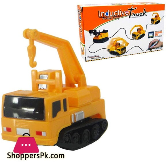 Inductive Truck Toys Figure Tank Car Pen Draw Lines Induction Rail Car