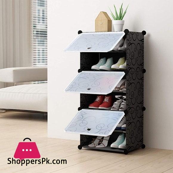 Intelligent Plastic Portable 3 Cube 6 Layer Cabinet – Shoe Rack
