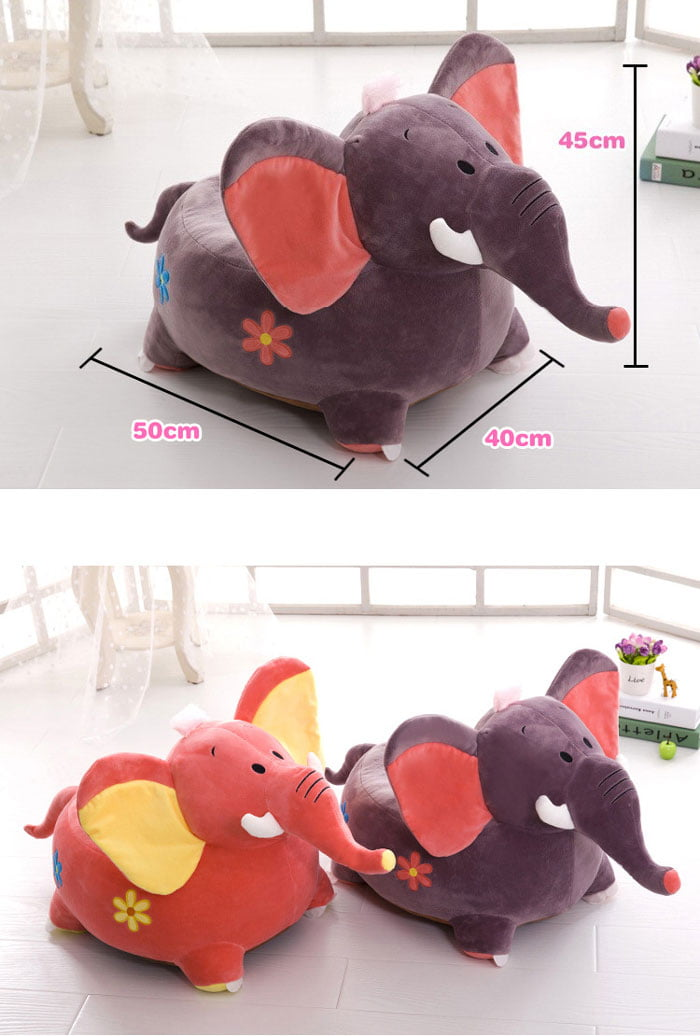 Kids Comfortable Plush Elephant Sofa Seat 2 - 8 Years Kids
