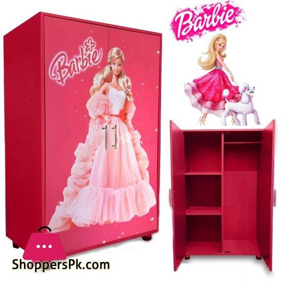 Kids Wooden Wardrobe 2 Door (Barbie)