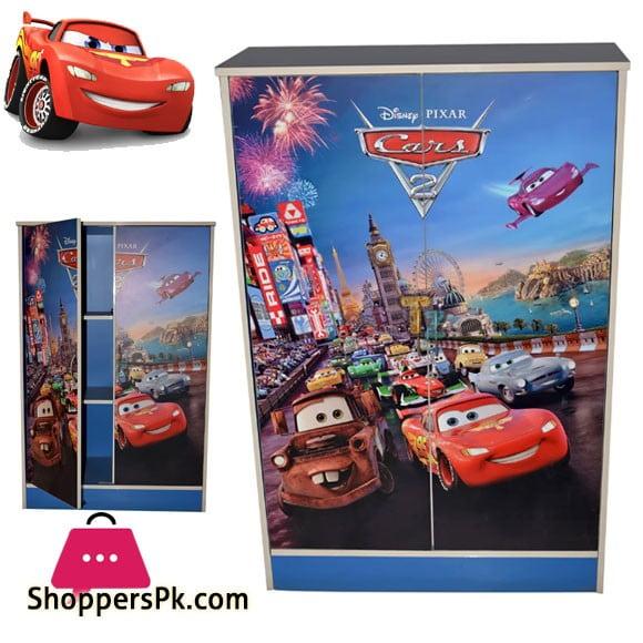 Kids Wooden Wardrobe 2 Door ( Cars )