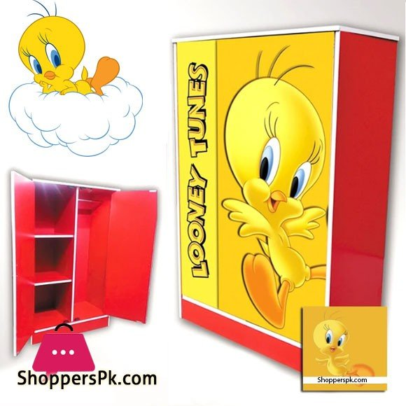 Kids Wooden Wardrobe 2 Door ( Tweety )