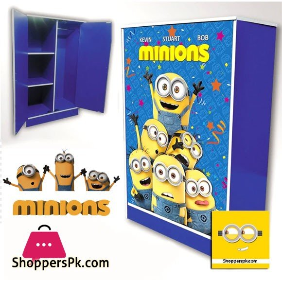 Kids Wooden Wardrobe 2 Door ( Minions )