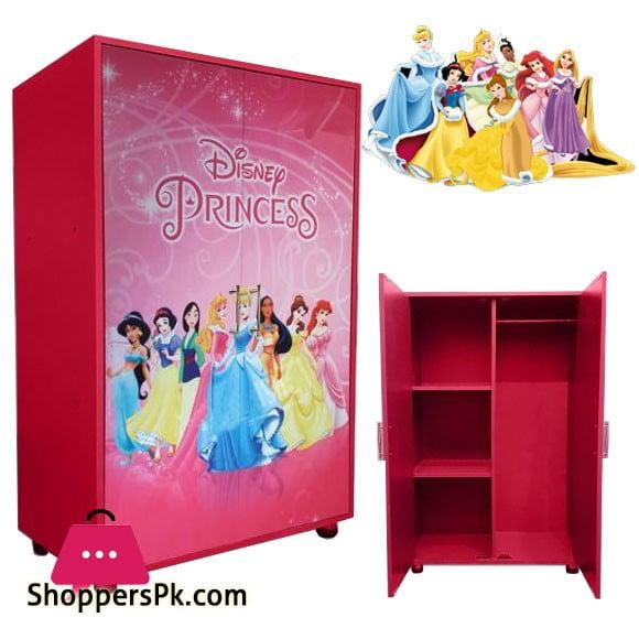 Kids Wooden Wardrobe 2 Door ( Princess )