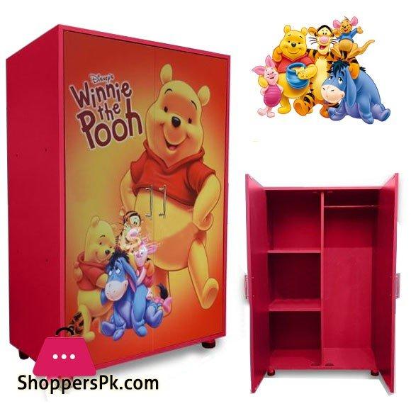 Kids Wooden Wardrobe 2 Door (Winnie The Pooh )