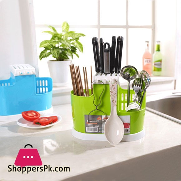 Kitchen Spoon Chopsticks Fork Knife Draining Rack Storage Tool Holder Organizer
