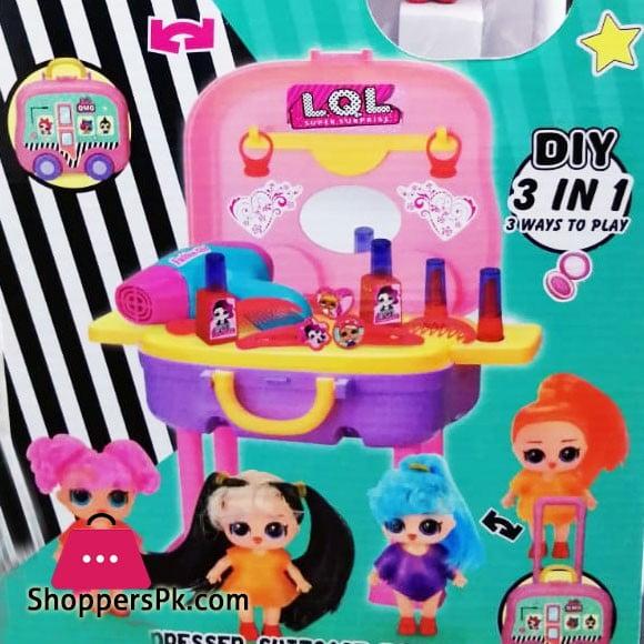 LQL Surprise dresser,Suitcase,Toy Car Set For Kid