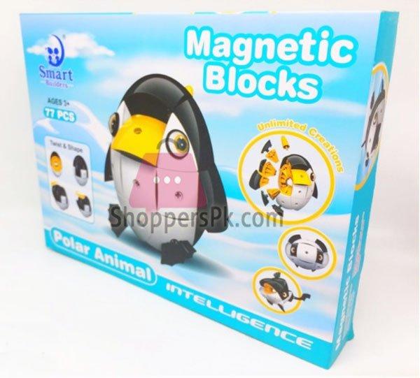 Magnetic Blocks Polar Animal 77 Pieces